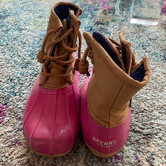 Sperry Pink Duck boots
